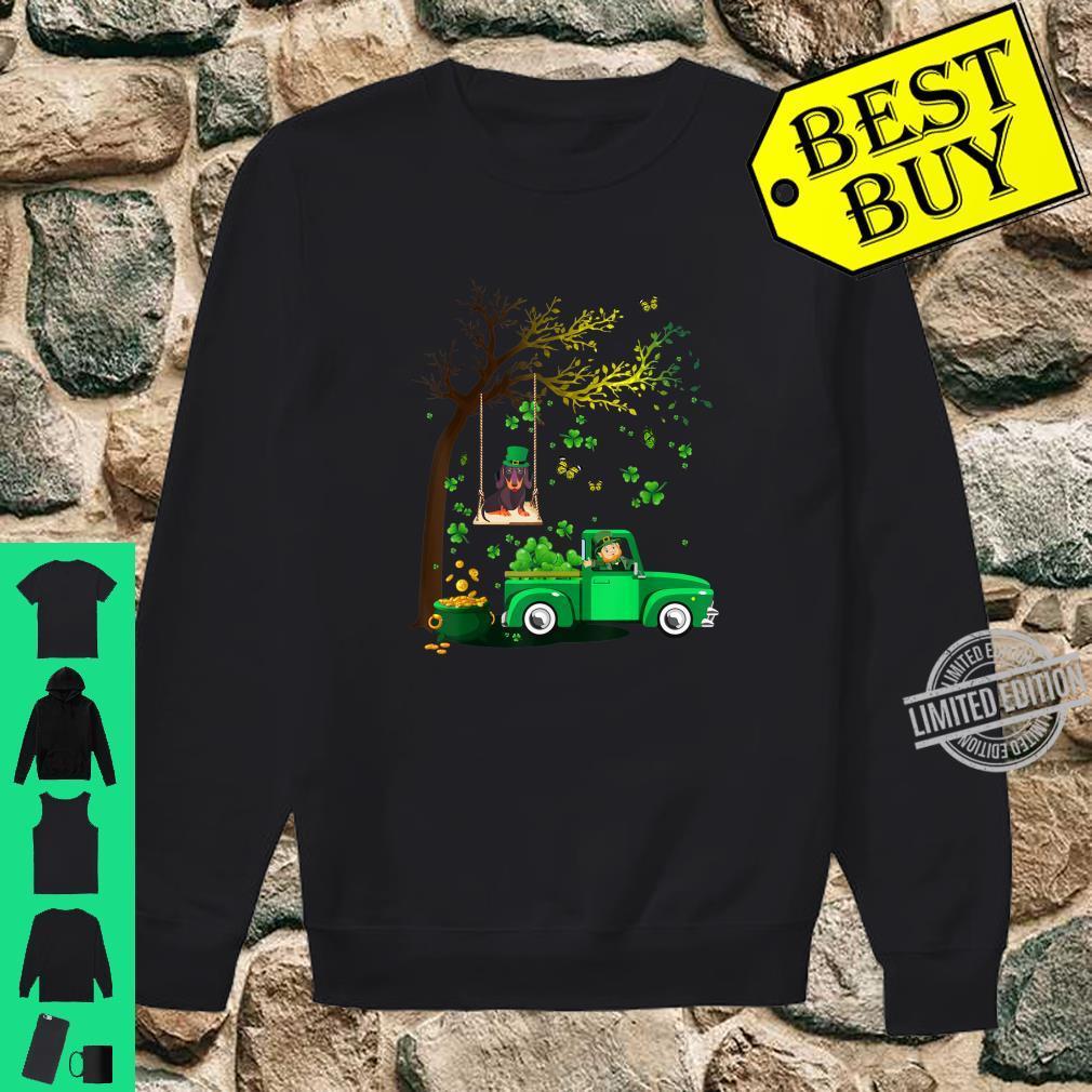 Cute Happy St Patrick's Day Dachshund And Truck Shamrock Shirt sweater