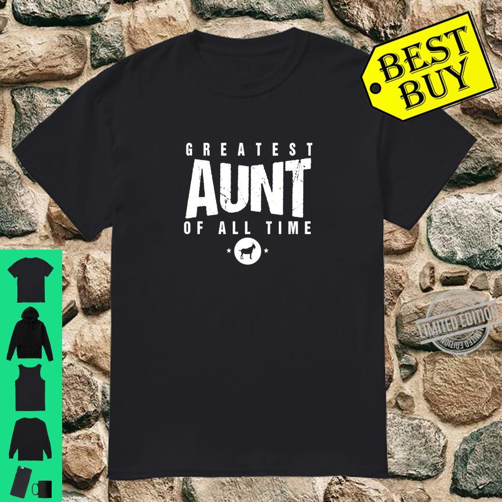 Greatest Aunt of All Time Aunts Day #1 Best Aunty Goat Shirt