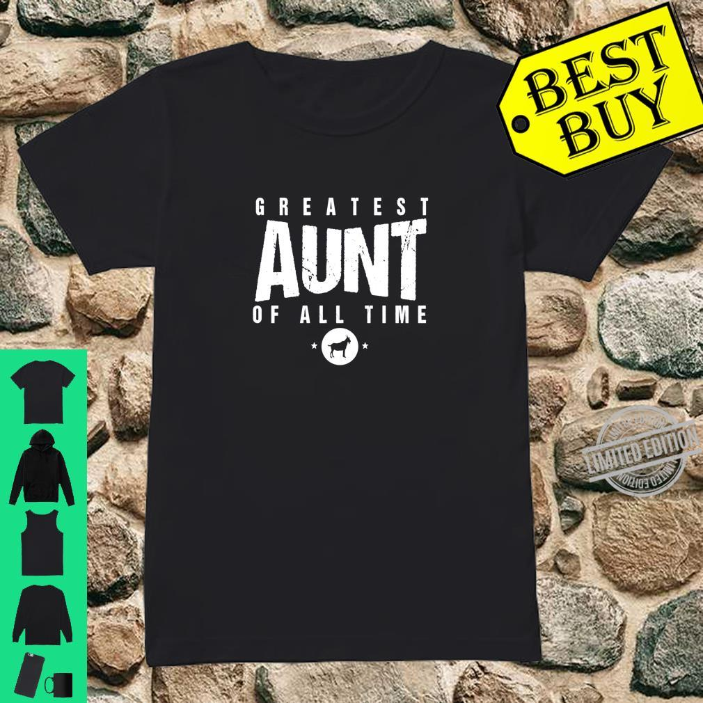 Greatest Aunt of All Time Aunts Day #1 Best Aunty Goat Shirt ladies tee
