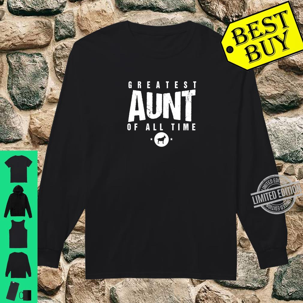 Greatest Aunt of All Time Aunts Day #1 Best Aunty Goat Shirt long sleeved