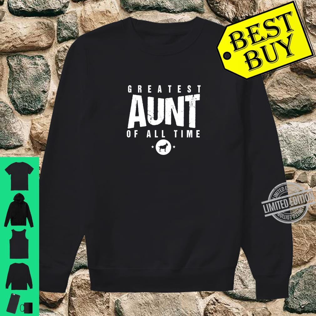 Greatest Aunt of All Time Aunts Day #1 Best Aunty Goat Shirt sweater