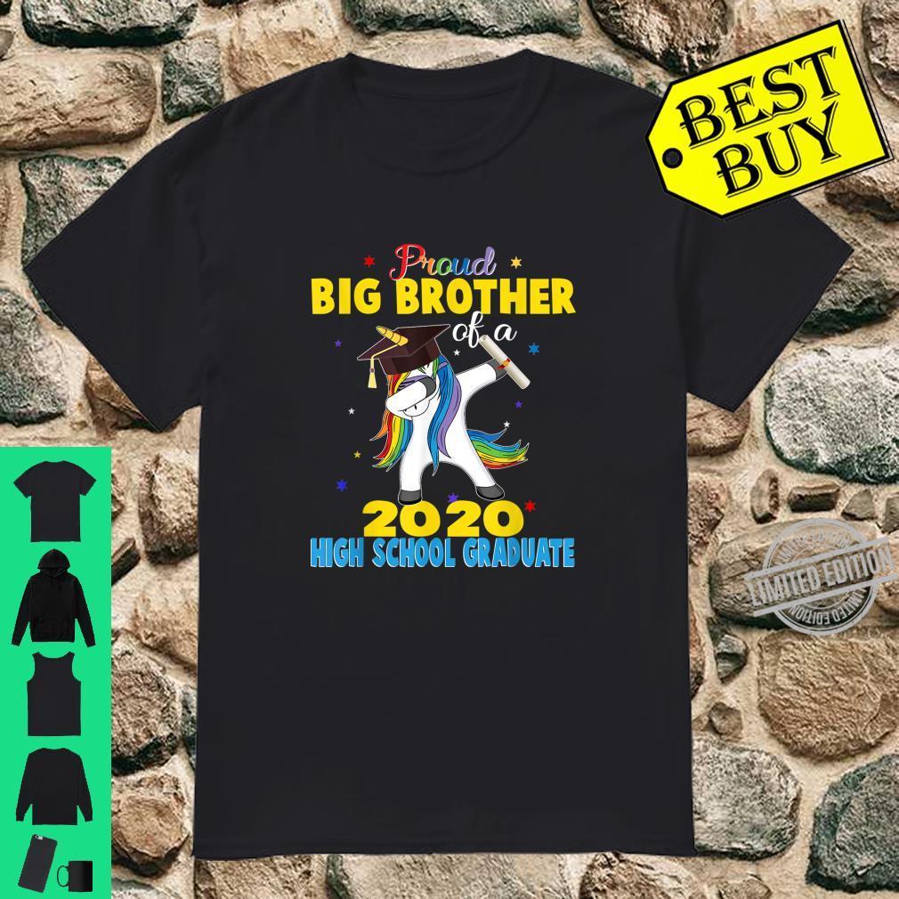 Proud Big Brother of a 2020 High School Graduate Unicorn Shirt