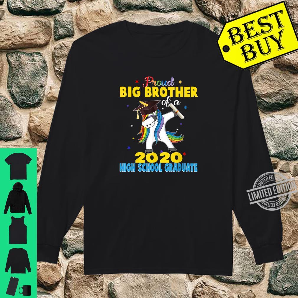 Proud Big Brother of a 2020 High School Graduate Unicorn Shirt long sleeved