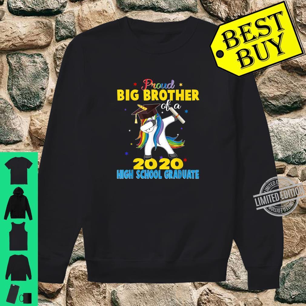 Proud Big Brother of a 2020 High School Graduate Unicorn Shirt sweater