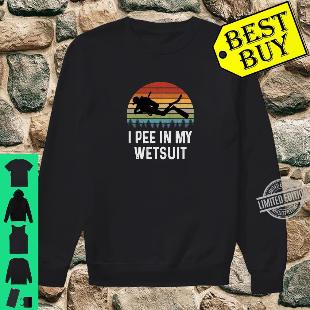 I PEE IN MY WETSUIT COOL SCUBA DIVING TEE FUNNY SCUBA DIVING T-SHIRT