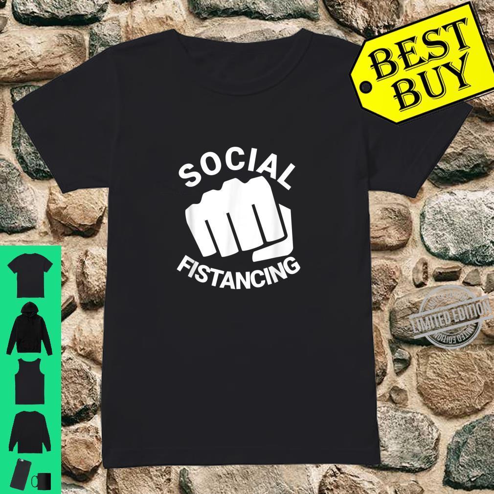 Social Fistancing Fist Kink Sex Adult Naughty Shirt ladies tee