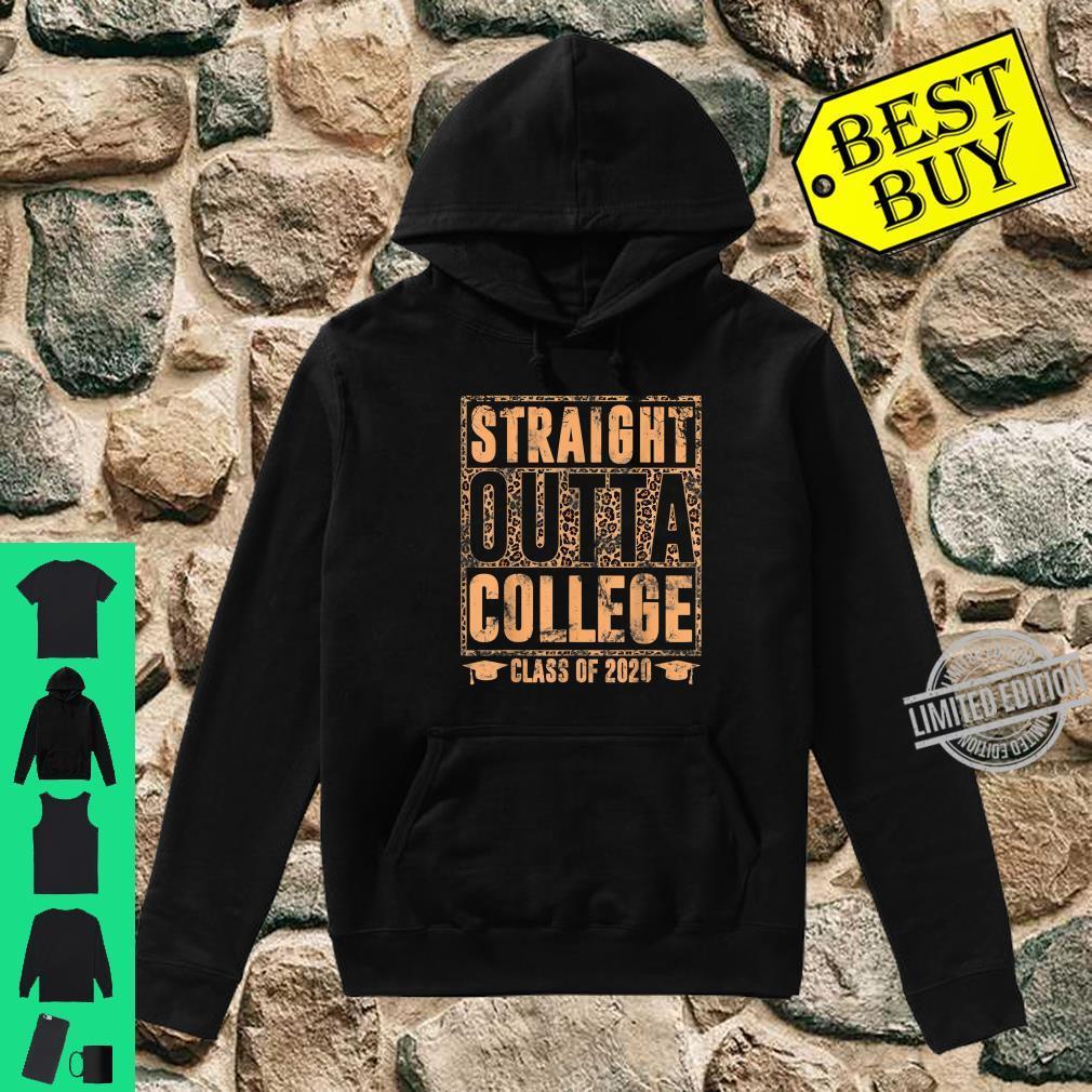 Straight Outta College Leopard Print Class of 2020 Graduate Shirt hoodie