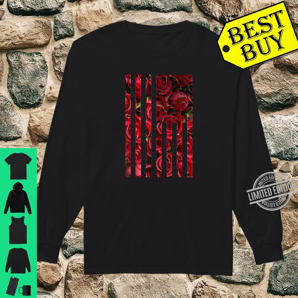 Summer Time Roses and American Flag Shirt long sleeved