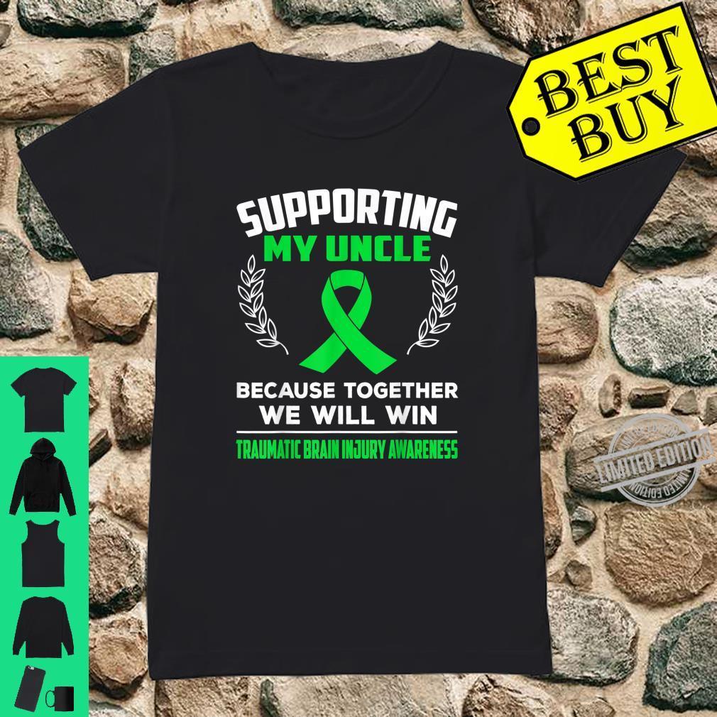 Supporting my uncle TRAUMATIC BRAIN INJURY AWARENESS Shirt ladies tee
