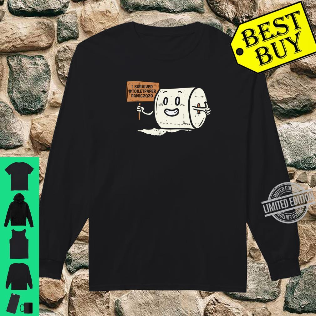 Survived #Toiletpaper Panic 2020 Scare Shirt long sleeved