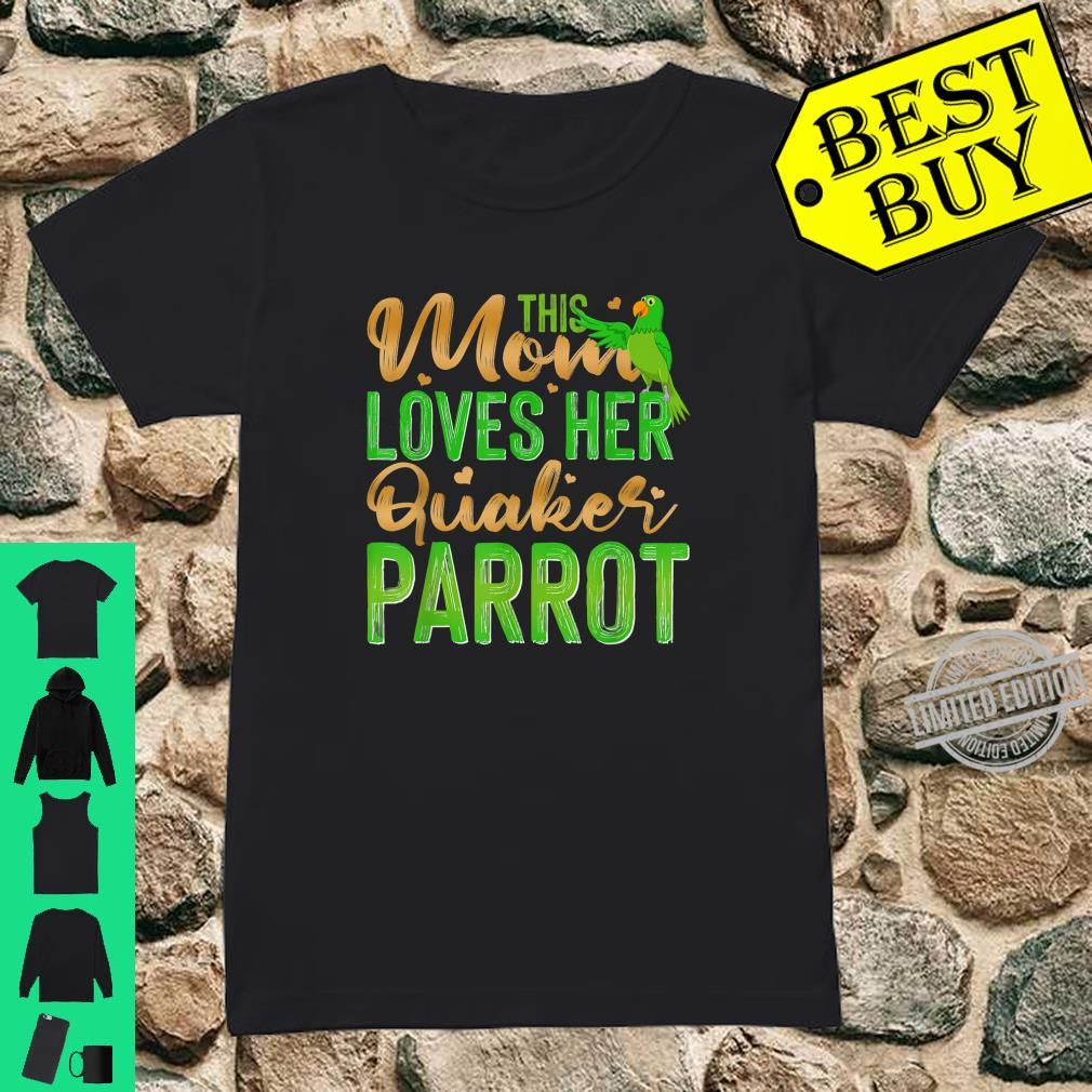 This Mom Loves Her Quaker Parrot Shirt ladies tee