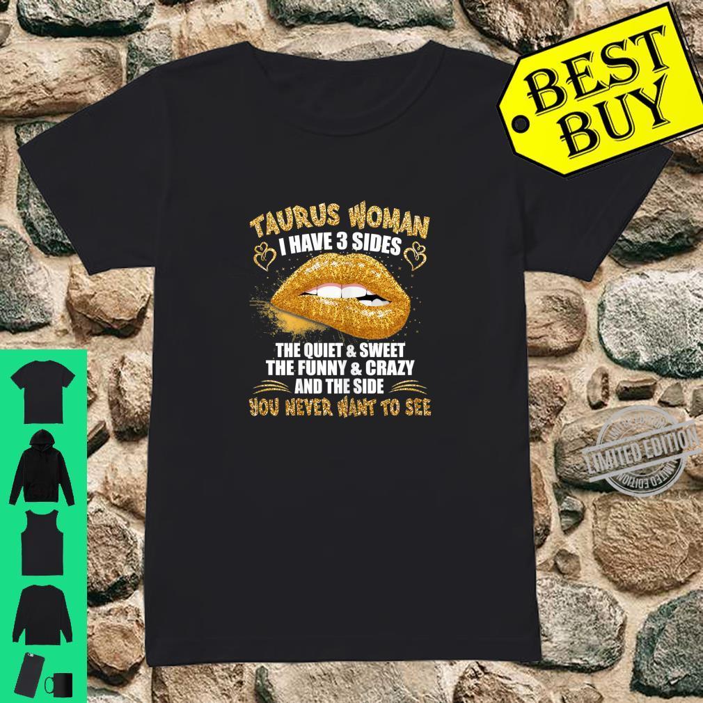 Womens Taurus shirt birthday golden lips Taurus zodiac Shirt ladies tee