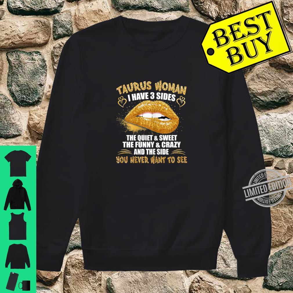 Womens Taurus shirt birthday golden lips Taurus zodiac Shirt sweater